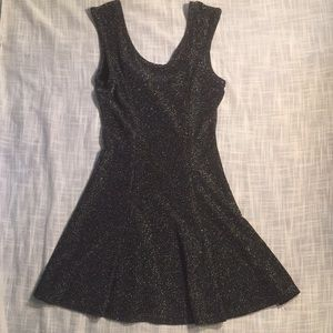 Deb Black and silver sparkle dress